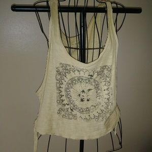 Free People vintage print tank top M